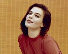 Natalie Wood sexy eyes studio portrait 1960's in red shirt 8x10 inch photo