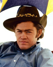 Micky Dolenz The Monkees in blue shirt and western hat 8x10 inch photo