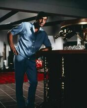 Dean Martin cool pose as Matt Helm standing at his bar 8x10 inch photo