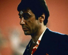 Al Pacino in blood soaked shirt & suit as Tony Montana in Scarface 8x10 photo