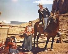 John Wayne on horseback Fort Apache scene in Monument Valley 8x10 inch photo