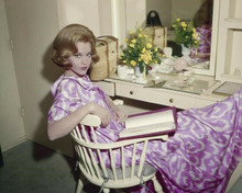 Jane Fonda relaxes in her dressing room early 1960's pose 8x10 inch photo