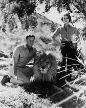 Daktari Marshall Thompson in bush with Clarence Cheryl Miller 8x10 inch photo