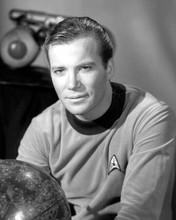 William Shatner as Captain Kirk portrait by globe Star Trek 8x10 inch photo