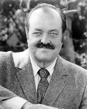William Conrad smiles wearing suit and tie as Frank Cannon 8x10 inch photo