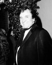 Johnny Cash in tuxedo smiles for press circa 1985 8x10 inch photo