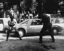 Weekend 1967 Jean-Luc Godard Matra M530 Morris Mini caught up in battle 8x10