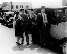 Laurel and Hardy Stan and Ollie exit car on street corner 8x10 inch photo
