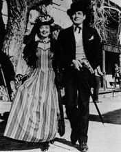 Bat Masterson TV series Cathy Downs Gene Barry stroll in town 8x10 inch photo