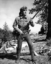 Fess Parker full length pose as Daniel Boone in forest with rifle 8x10 photo