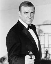 Sean Connery in iconic James Bond pose Never Say Never Again 8x10 inch photo