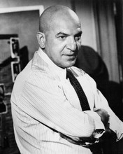 Telly Savalas in shirt and tie as Kojak 1973 first season portrait 8x10 photo