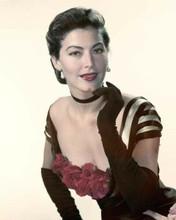 Ava Gardner beautiful 1940's glamour portrait low cut dress & gloves 8x10 photo