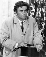 Peter Falk as Columbo classic pose in raincoat 1970's era 8x10 inch photo