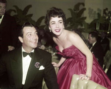 Elizabeth Taylor with Michael Wilding at 1950's Hollywood event 8x10 inch photo