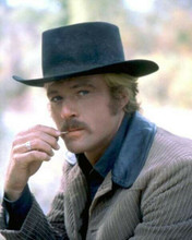 Robert Redford in black hat toothpick in mouth Butch Cassidy & Sundance Kid 8x10
