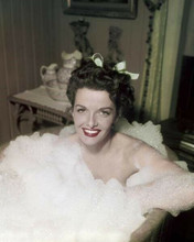 Jane Russell takes a sudsy bubble bath 8x10 inch photo