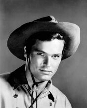 Ty Hardin studio portrait Bronco western TV 8x10 inch photo