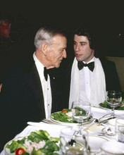 Fred Astaire dines with John Travolta 1970's Hollywood in tuxedos 8x10 photo