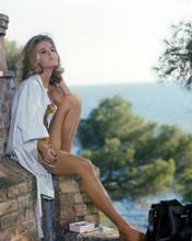 Jane Fonda in yellow bikini sits on brick wall 1966 The Game is Over 8x10 photo
