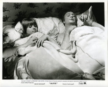 ALFIE ORIGINAL STILL PHOTOGRAPH MICHAEL CAINE IN BED WITH JANE ASHER 8X10