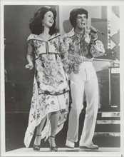 Donny and Marie original 1976 8x10 photo singing on their TV series