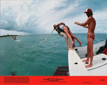 For Your Eyes Only original 8x10 inch lobby card Carole Boquet dives off boat