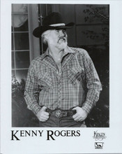 Kenny Rogers original 8x10 promotional photo in black hat and western belt