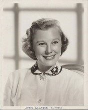 June Allyson original MGM stamped verso 8x10 double weight photo