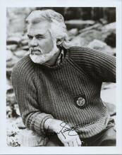 Kenny Rogers relaxes in casual sweater original 8x10 publicity portrait