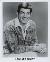 Leonard Nimoy original 1970's 8x10 photo publicity portrait smiling