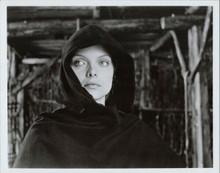 Michelle Pfeiffer original 8x10 photo wearing hooded cape from Ladyhawke