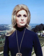 Sharon Tate stunning portrait in black sweater wearing necklace 8x10 inch photo