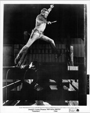Nevada Smith original 8x10 inch photo Steve McQueen leaps in air holding knife