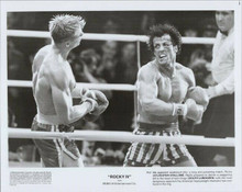 Rocky IV original 1985 8x10 photo Sylvester Stallone punches Dolph Lundgren