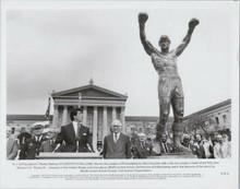 Rocky III original 1982 8x10 photo Sylvester Stallone Philadelphia Rocky statue