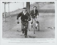 Rocky III original 1982 8x10 photo Sylvester Stallone Burgess Meredith on bike