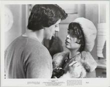 Rocky original 1977 8x10 photo Talia Shire Sylvester Stallone in scene