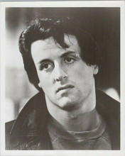 Rocky original 1976 8x10 photo Sylvester Stallone in leather jacket
