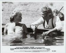 Tom Horn original 1980 8x10 photo Linda Evans takes bath Steve McQueen watches