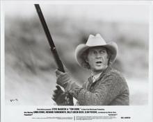 Steve McQueen original 1980 8x10 photo holding rifle as Tom Horn