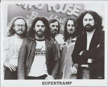 Supertramp 1970's rock group original publicity portrait 8x10 photo