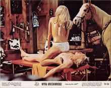 Myra Breckinridge original 8x10 lobby card Thordis Brandt sits atop John Huston