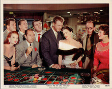 Meet Me in Las Vegas original 1956 8x10 lobby card Dan Dailey Cyd Charisse craps