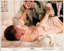 Lipstick 1976 original 8x10 lobby card Margaux Hemingway attacked on bed