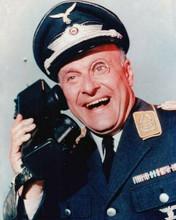 Hogan's Heroes Werner Klemperer on telephone as Klink 8x10 inch photo