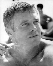 George Peppard beefcake pose bare chested smoking cigarette 1960's 8x10 photo