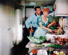 I Love Lucy rare color 8x10 inch photo Lucy & Desi in kitchen 8x10 inch photo