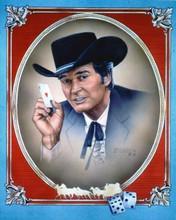 Breck Maverick 1981 TV publicity artwork James Garner holds ace card 8x10 photo