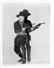 William Boyd with both guns drawn as Hopalong Cassidy 8x10 inch vintage photo